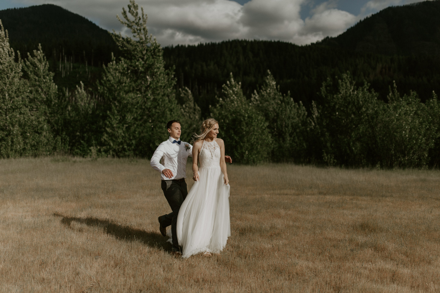 Trevor goes to suprirse Harper at Cascade Locks, Oregon during their Adventure. Elopement photography in Portland Oregon by Sienna Plus Josh.