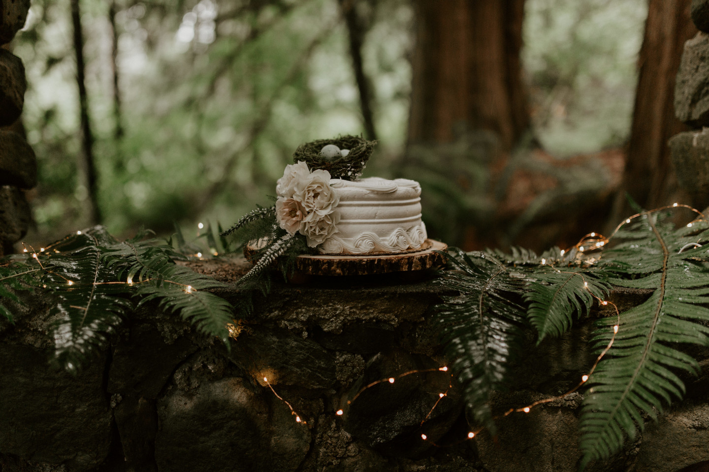 A wedding cake at Skamania House, Washington. Elopement photography in Portland Oregon by Sienna Plus Josh.