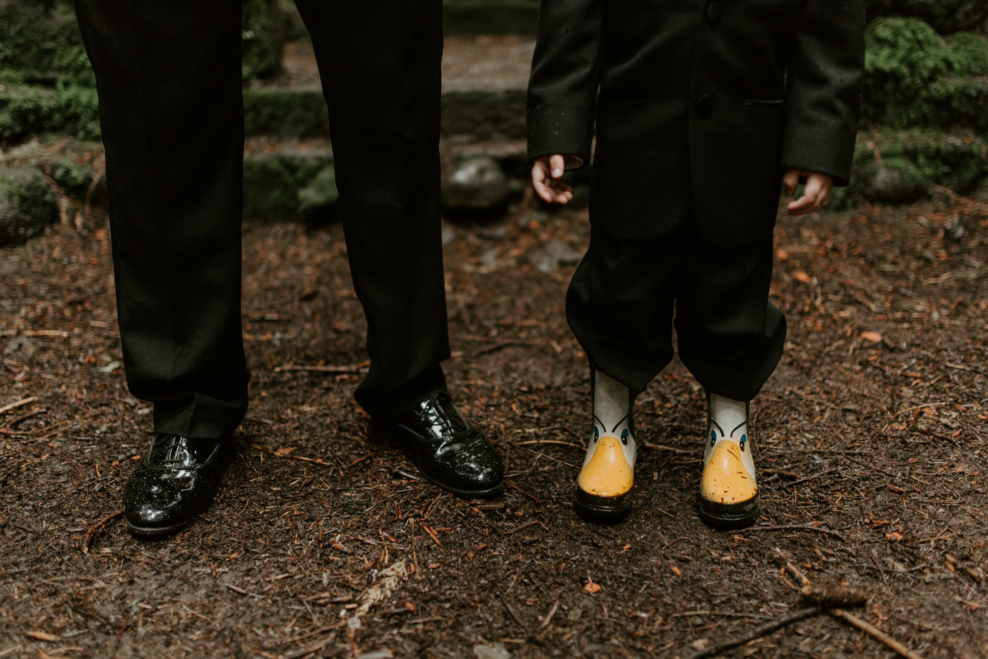 Sam and his son stand side by side at Skamania House, Washington during their Adventure. Elopement photography in Portland Oregon by Sienna Plus Josh.